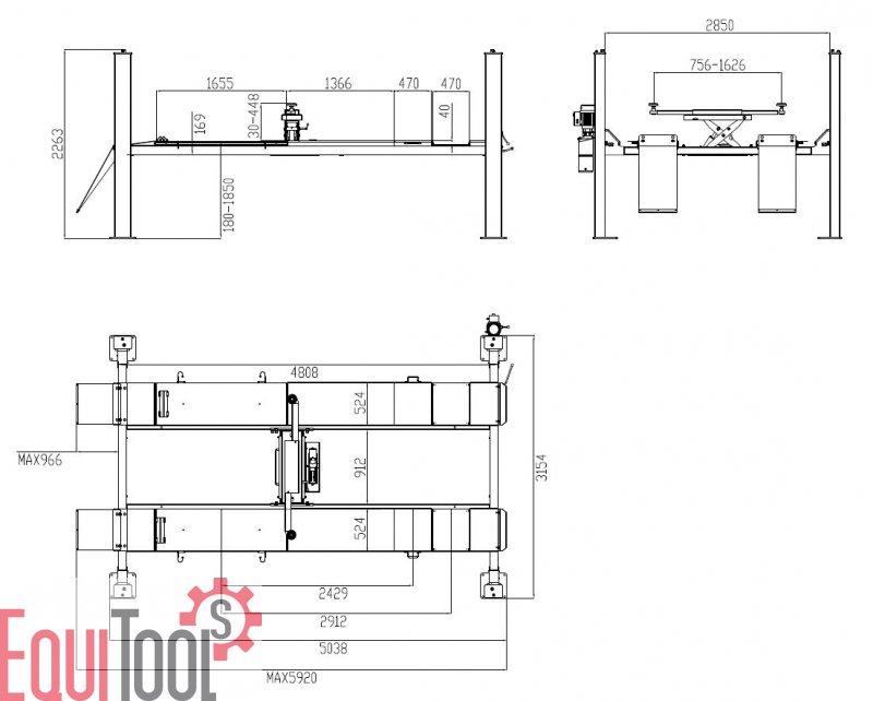 equitools elektrohydr 4 s ulen hebeb hne zum top preis. Black Bedroom Furniture Sets. Home Design Ideas