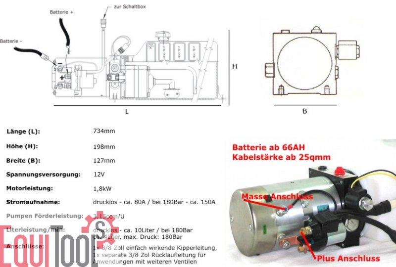equitools hydraulikpumpe 12volt 9l tank zum top preis equitools 274 00. Black Bedroom Furniture Sets. Home Design Ideas
