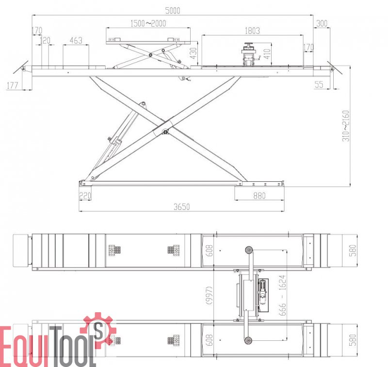 scherenhebeb hne 5t mit rad und achsfreiheber inkl. Black Bedroom Furniture Sets. Home Design Ideas